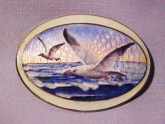 Ole Olberg brooch with seagulls