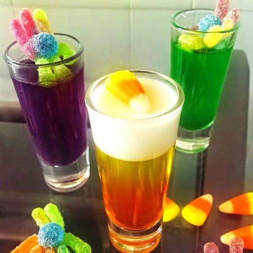 BOO! 3 Fa'BOO'lous Halloween Jell-O Shots! via @https://www.pinterest.com/BaknChocolaTess/