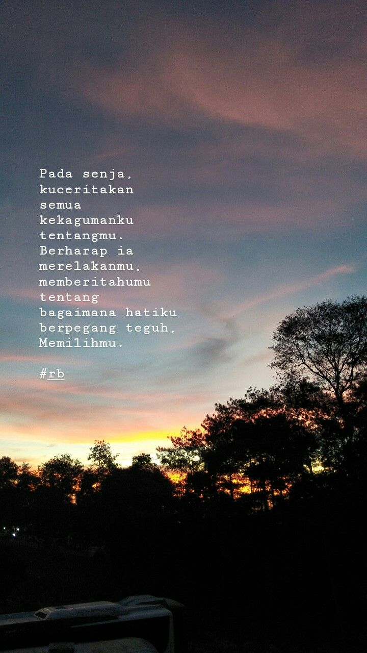 Untuk Mereka Yang Mengagumi Senja Mencintai Dalam Diam