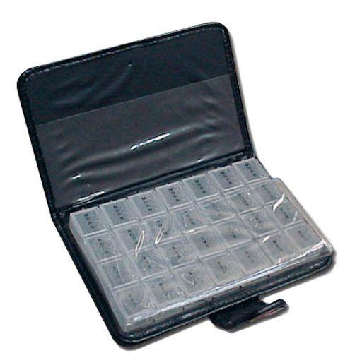 Pilulier Boîte à Pilules Semainier X28 – Motif Fleurs – comforteo ®: Planung der Medikamenten-Einnahme für die ganze Woche 7 einzelne…
