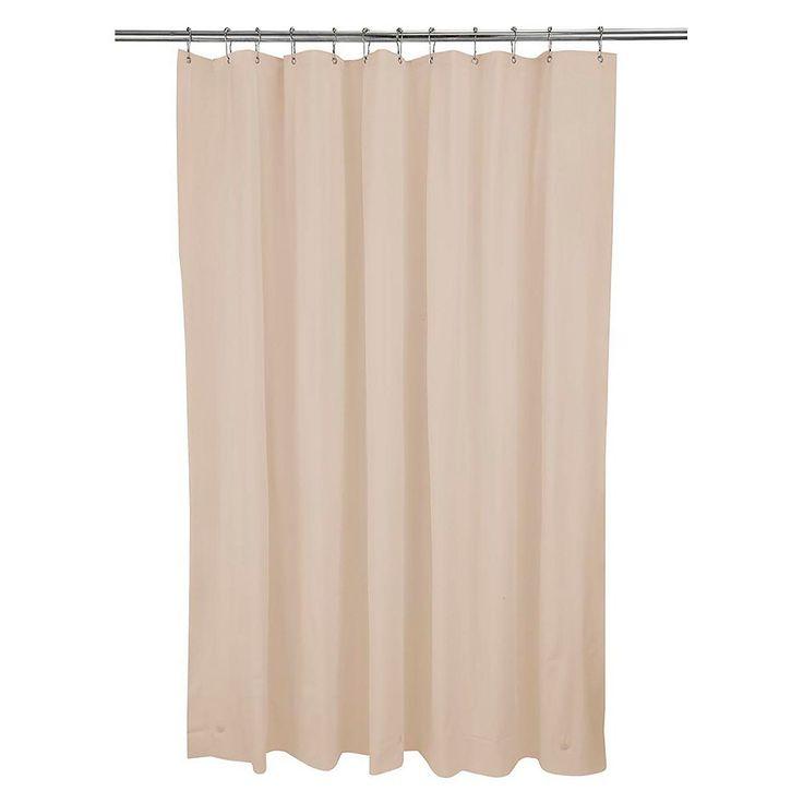 Bath Bliss Hotel Weight Shower Curtain Liner, Beig/Green (Beig/Khaki)