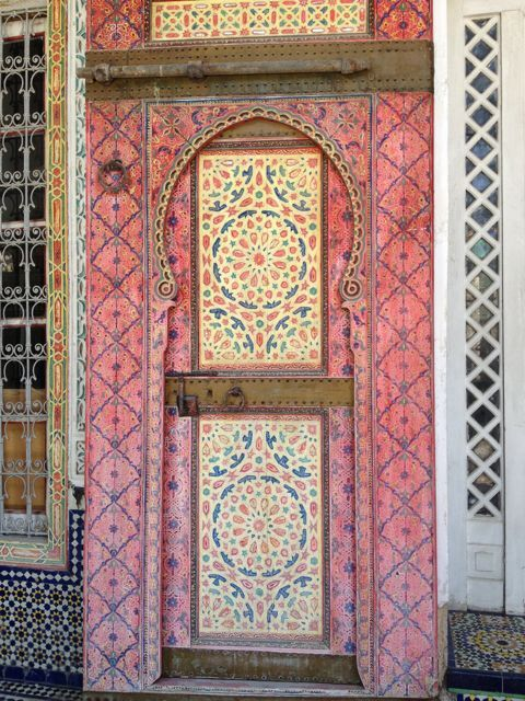 Africa | A door at Dar Tazi, Fez, Morocco | © Artisan Project