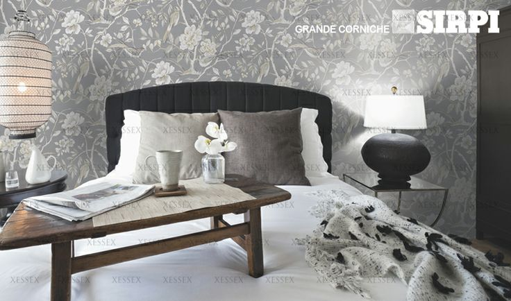 Grande Corniche by Sirpi (Visit www.xessex.com.sg for the latest ranges and collections!) #oriental #chinoiserie #flowers #birds #mylar #metallic #interior #design #wallcoverings #wallpapers #Xessex #interiordesign #wallpaper #GoodDesign #Wallcoverings #PoshLiving