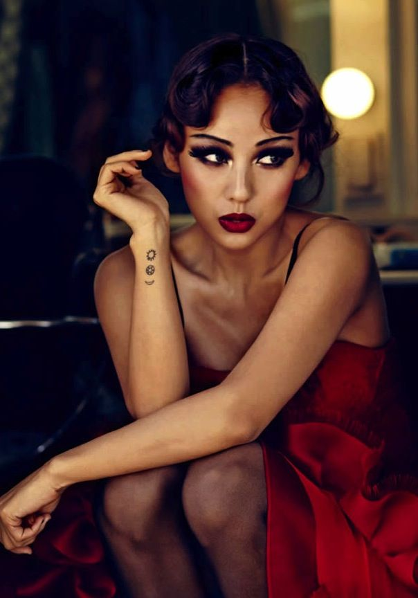 Lee Hyori - sun, star and moon. #tattoo #tattoos #ink