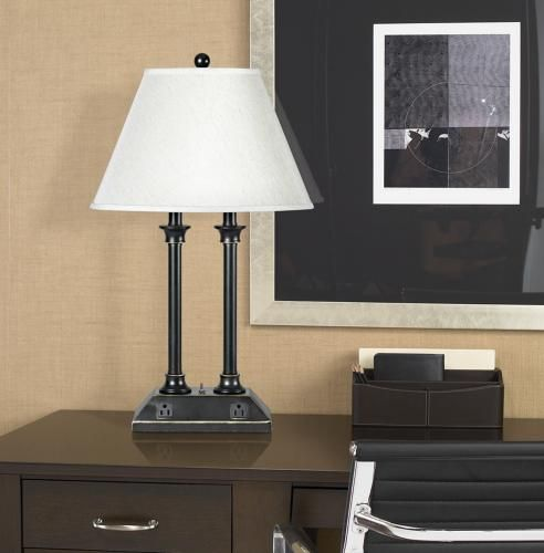 lamps sculptures lamp power power outlets desk lamp table lamps shop. Black Bedroom Furniture Sets. Home Design Ideas