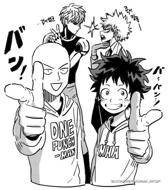 OnePunch-Man & Boku no Hero Academia crossover #opm #BnHA