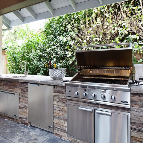 97 best outdoor kitchen images on pinterest home diy for Simple outdoor kitchen ideas