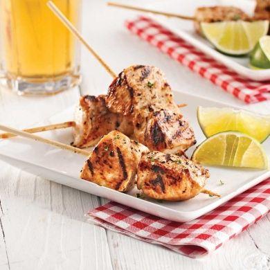 Mini-brochettes de poulet à la bière et au miel - Recettes - Cuisine et nutrition - Pratico Pratique