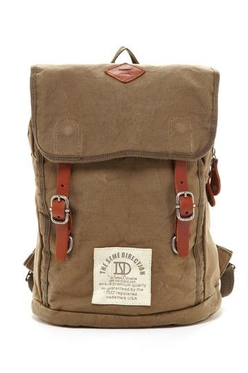 Love Stitch Foldover Flap Backpack