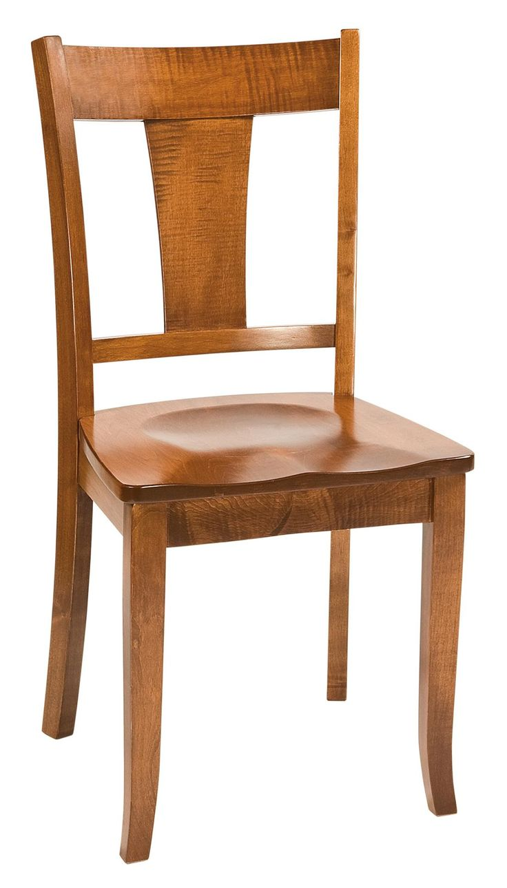 Amish Ellington Dining Chair  Yoder Collection  Click here to learn more about the Old Order Amish brothers that handcraft this beautiful dining room furniture.
