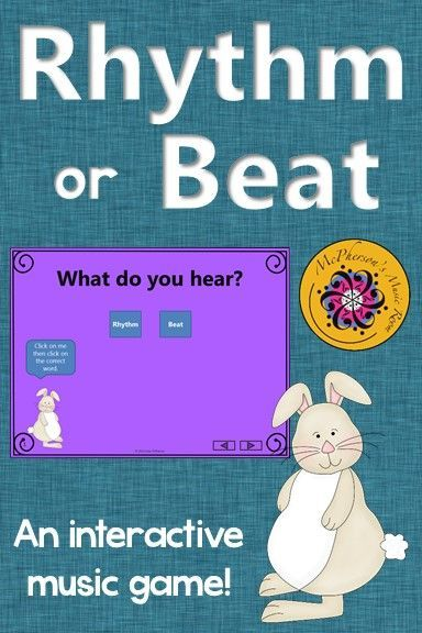 Elementary Music Game! Perfect for your spring music lesson plans! Fun steady beat vs rhythm game! #elmused #musicgames #musiced #McPhersonsMusicRoom #musictpt