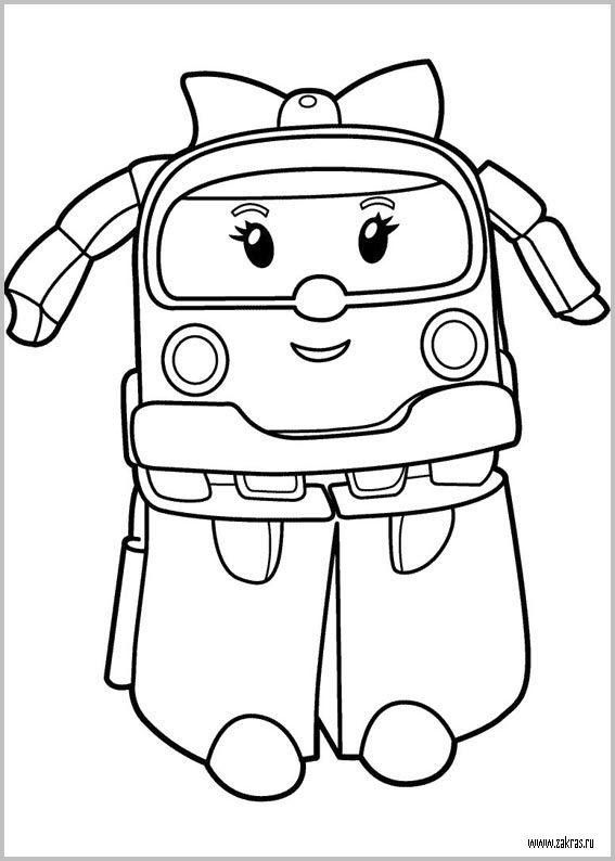 Robocar poli coloring for Coloring pages for aunts
