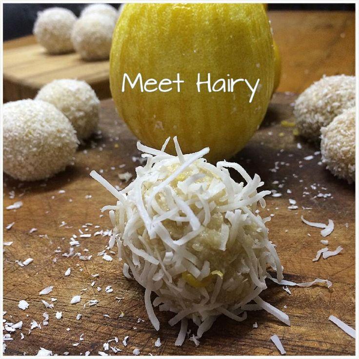 Raw lemon caramel bliss ball