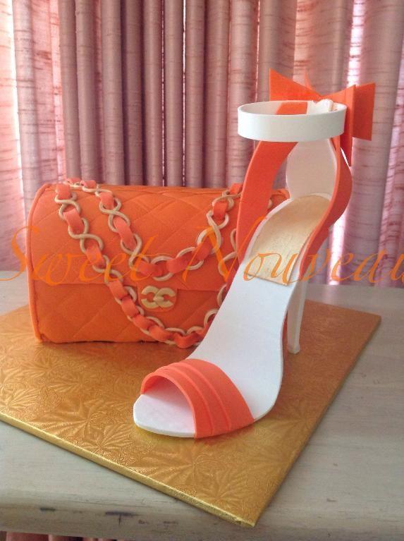 ralph lauren purse cakes   Make a High Heel Cake Topper in Crafty's: High-Fashion Heels