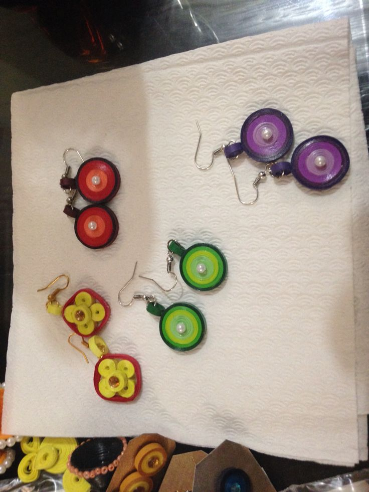 Cute quilled earring