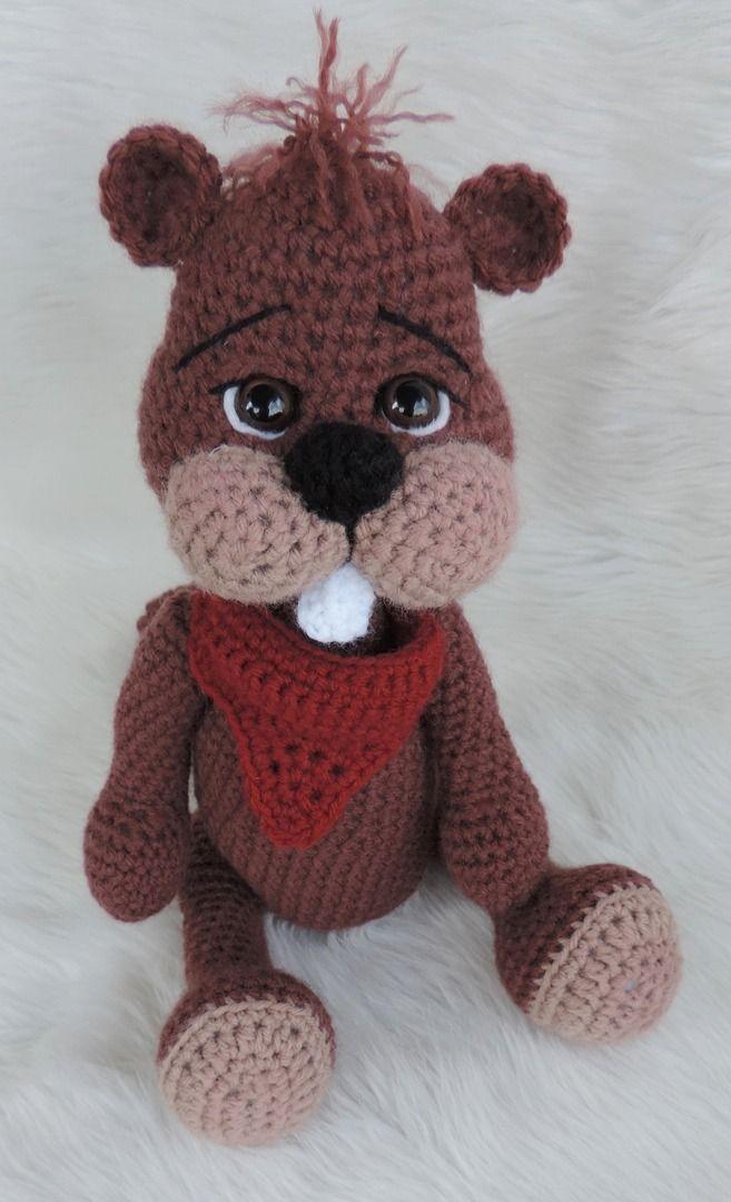 Animal & Critter Crochet Patterns by Teri Crews - Beaver More