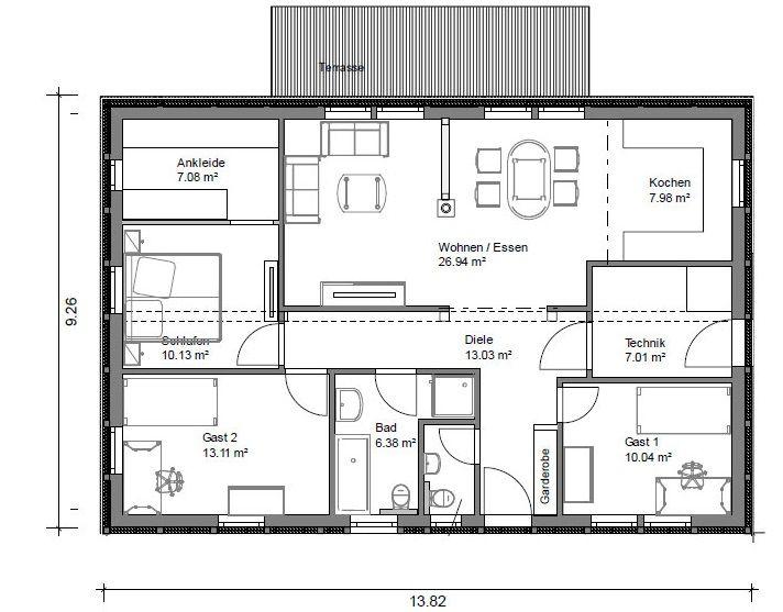 346 besten Haus Bilder auf Pinterest Bungalows, Hauspläne und - badezimmer grundriss planen