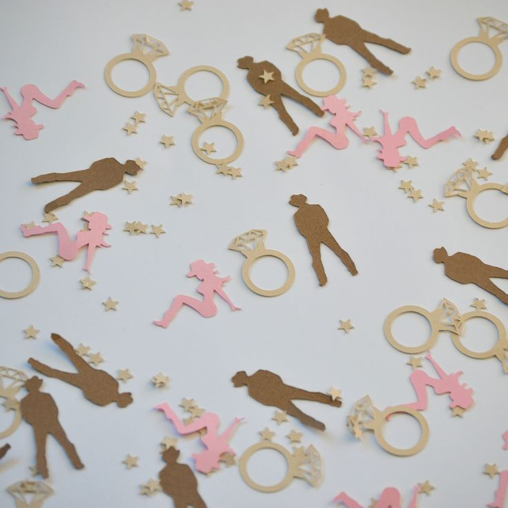 Cowboy & Cowgirl paper confetti. Fun idea for an engagement party, bridal shower or bachelorette.