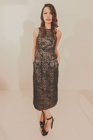 Starstruck Dress - Black/Gold – Blackeyed Susan