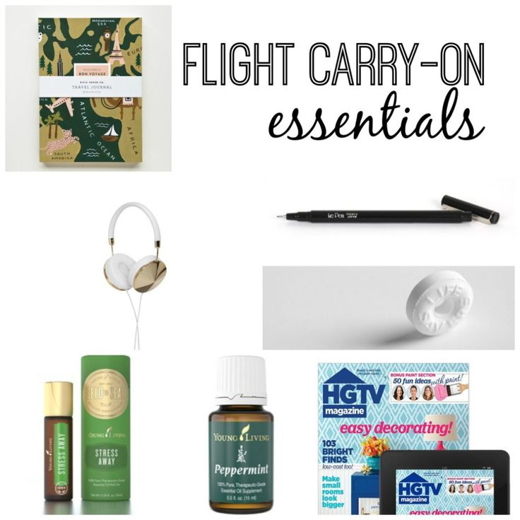 A list of the must have items when packing your carry on for flying with kids or by yourself! www.thedempsterlogbook.com