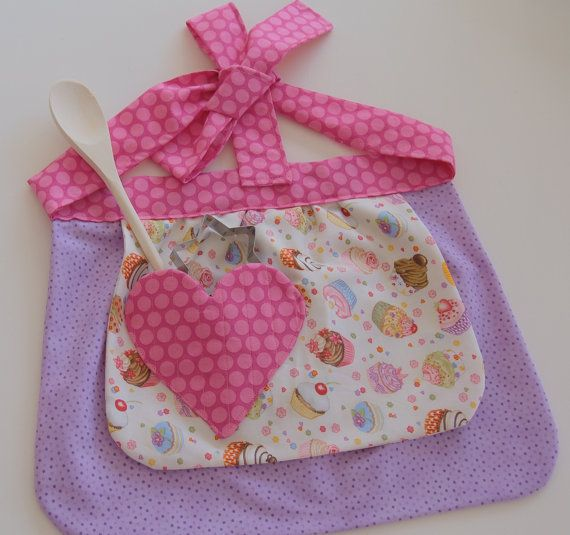 Children's Apron Gift Set by BecsCreativeBarn on Etsy, $22.00