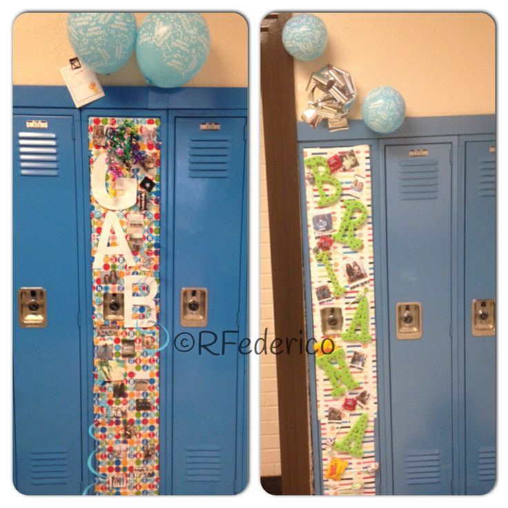 ... Locker For Birthday, Birthday Lockers Decor, Birthday Decorations