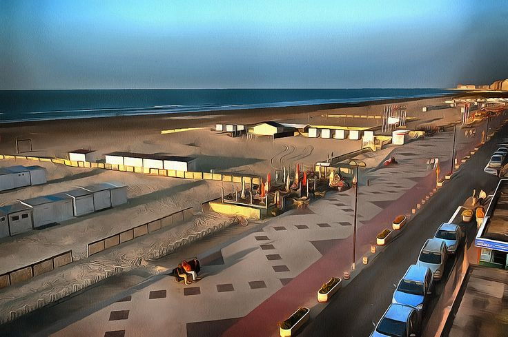 View to the Beach. Knokke Heist, Belgium