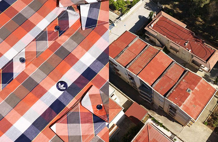 Uncanny Aerial and Fashion Photography Mashups by Joseph Ford landscapes fashion advertising