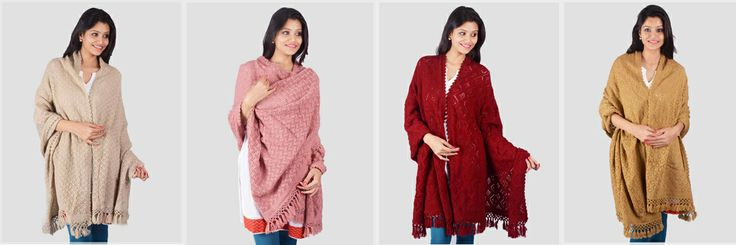 Hand-Knitted #Shawls starting at Rs1,899 only.