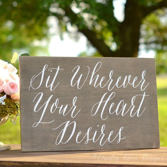 Wedding Seating Sign Pick a Seat Not a Side by countryblissdesigns