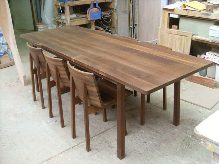 Marina Bautier | Table and chairs in Kebony Maple