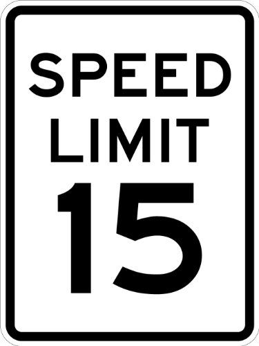 Outdoor Décor-SmartSign MUTCD  R2115 3M Engineer Grade Reflective Sign Legend Speed Limit 15 24 high x 18 wide Black on White >>> Find out more about the great product at the image link.