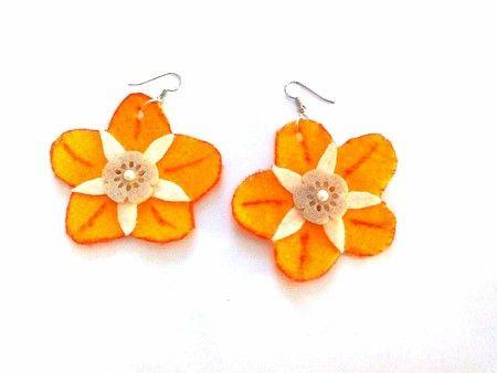 Orecchini di feltro arancio - ART.001