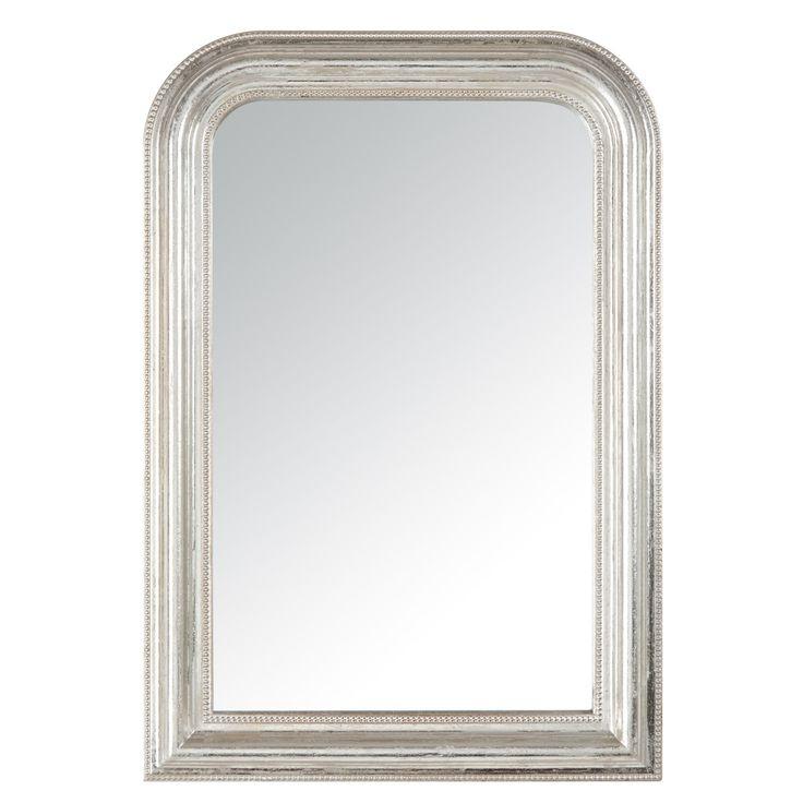 Miroir argent dome perle petit mod le sb for Miroir contour argent
