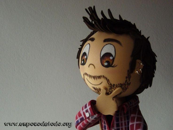 www.unpocodetodo.org - Fofucho de Pablo - Fofuchas - Goma eva