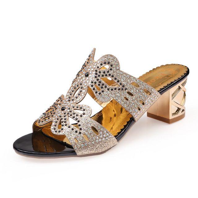 Ekoak 2017 Nueva moda rhinestone cut outs mujeres Partido sandalias de tacón Cuadrado zapatos de verano mujer sandalias de tacón alto con mariposa en Sandalias de las mujeres de Zapatos en AliExpress.com | Alibaba Group