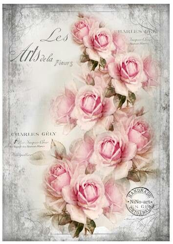 Spray of roses on advertisement writing