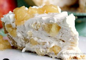 Incredible No-Bake Whipped Apple Pie - A no-bake pie recipe with apple pie filling and a fluffy whipped cream mixture.