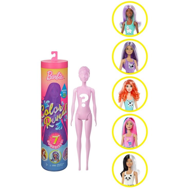 Color Reveal Water Color Change Surprise Barbie Changing Hair