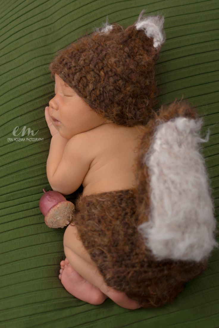 Baby Squirrel Costume, Woodland Nursery, Woodland Baby Shower, Squirrel Costume, Infant Costumes, Newborn Costumes, Newborn Outfit, Cute Baby Costumes, Newborn Picture Outfit