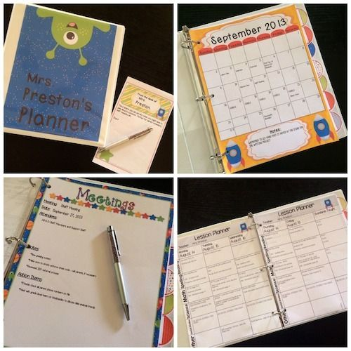 Space Theme Teacher Lesson Planner  Out of this world! Customize it how YOU want it to be and print off as many or as little pages in the process!  http://www.theorganizedclassroomblog.com/index.php/ocb-store/view_document/463-space-theme-teacher-lesson-planner