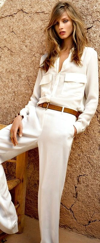 White with tan, classic.