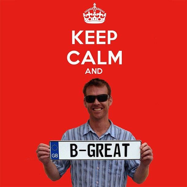 BE GREAT on a EU Style Great Britain plate