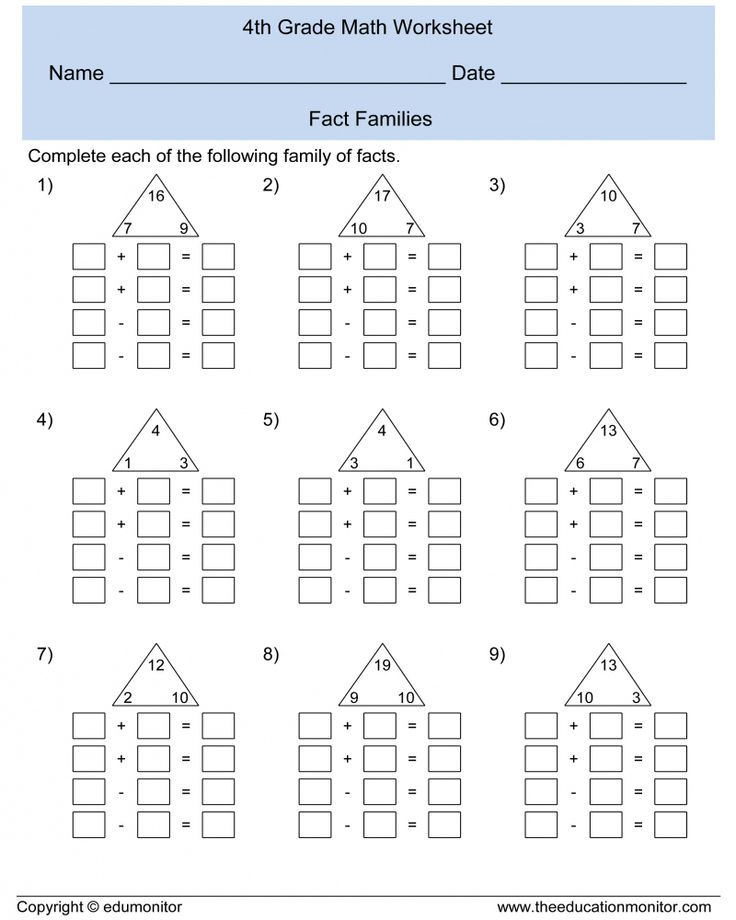 Printable 4th Grade Math Worksheets Teachers Use - With ...