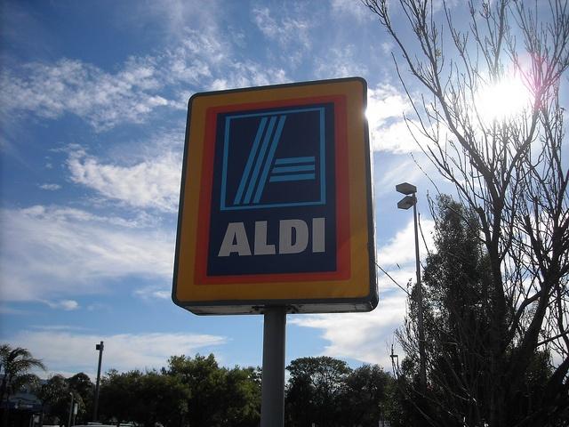 Aldi - totem sign by PortlandDevelopments, via Flickr