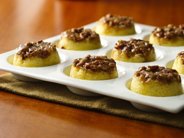 Gluten Free Caramel Pecan Upside-Down Muffins - made with Gluten free Bisquick mix.