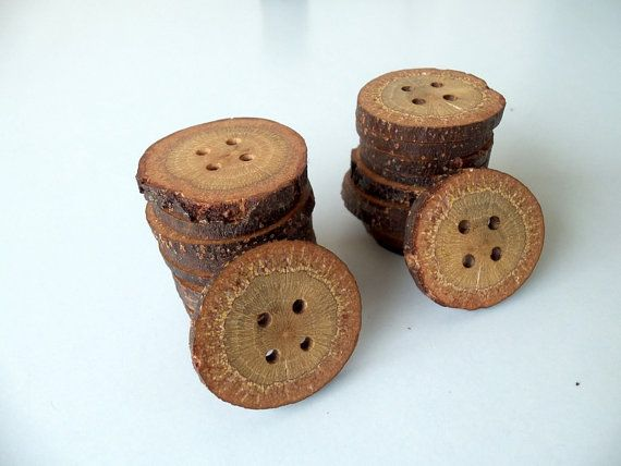 NEW  Wood Buttons   20 Slim Buttons  BlackJack by PebblesAndWoods