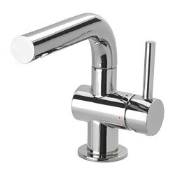 IKEA - SVENSKÄR, Bath faucet with strainer, , 10-year Limited Warranty. Read about the terms in the Limited Warranty brochure.You can save up to 50% water as the faucet has a mechanism that reduces water flow while maintaining pressure.The faucet cartridge has hard, durable ceramic discs that can handle the high friction that occurs when you change the temperature of the water.Chrome-plated brass is a hard and durable surface that is easy to clean.