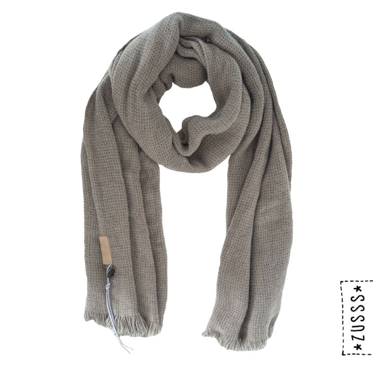 Zusss | Gewafelde sjaal groen | http://www.zusss.nl/product/gewafelde-sjaal-groen/