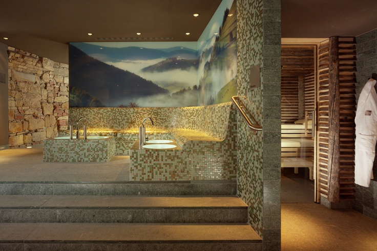 Combination of medieval construction and modern design, Pürovel Spa & Sport at Swissôtel Dresden is styled around a stone cellar from the 15th century. http://purovel.com/en/dresden.asp